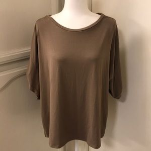 Halogen buttery soft cold shoulder top